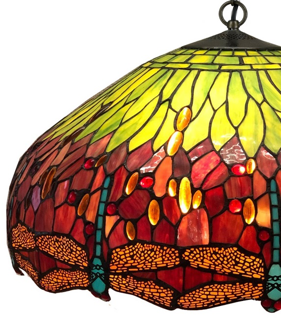 Tiffany hanglamp Ø60cm Dragonfly 98 3 fittingen