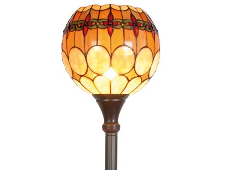 Tiffany vloerlamp Cherry Uplight