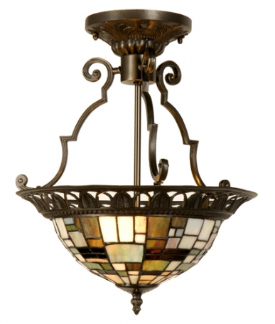 Tiffany plafondlamp  Georgia Rustique