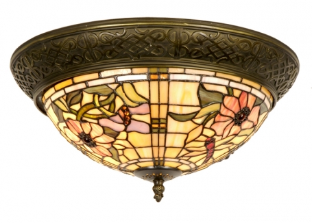 Tiffany plafondlamp Alabama Rand