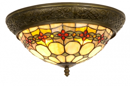 Tiffany plafondlamp Cherry Rand
