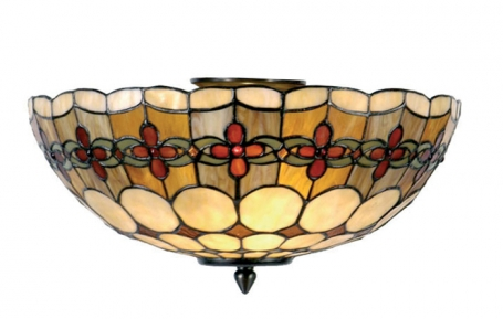 Tiffany plafondlamp Cherry Loose