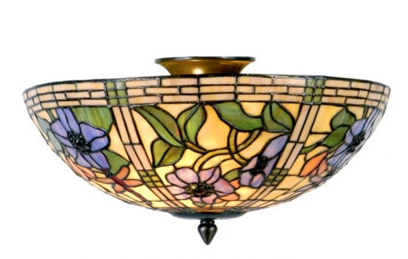 Tiffany plafondlamp Alabama Loose
