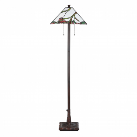 Tiffany Vloerlamp Exotic Maple
