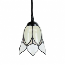 Tiffany Hanglamp Lovely Flower White