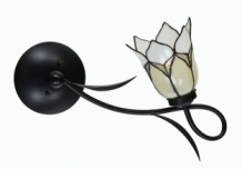 Tiffany Wandlamp/Plafonnière Lovely Flower White