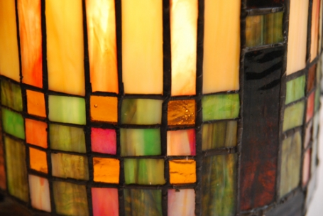 Tiffany wandlamp Stripes cilinder