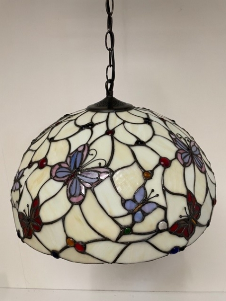 Tiffany hanglamp Ø 50cm Papillon -98 3 fittingen