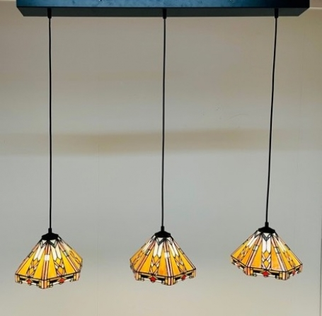 Tiffany hanglamp Wyber 25 Triple