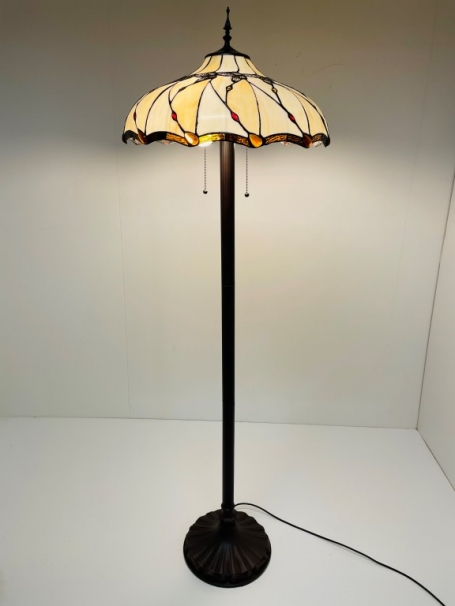 Tiffany vloerlamp Butterfly 50 Straight