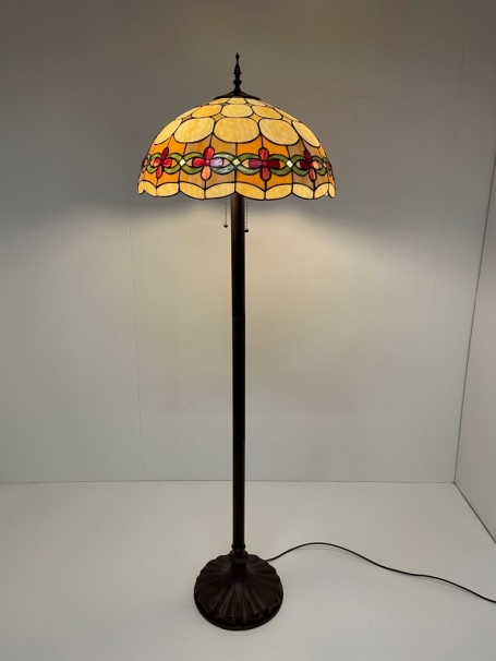 Tiffany vloerlamp Cherry 50 Straight