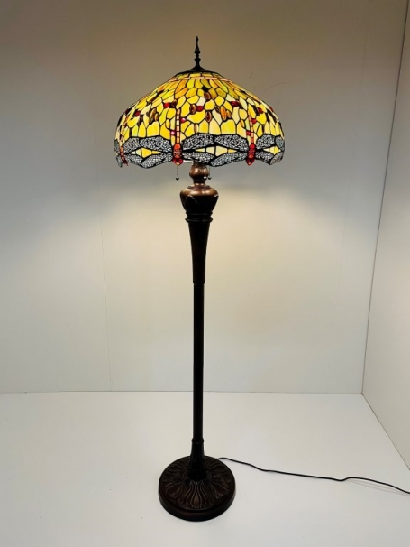 Tiffany vloerlamp Dragonfly Green 51 Deluxe