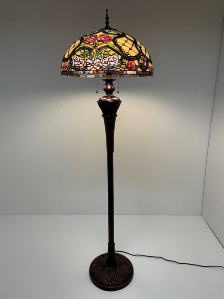 Tiffany vloerlamp Floreale 50 Deluxe
