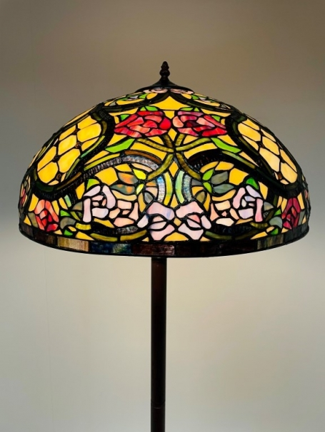 Tiffany vloerlamp Floreale 50 Rich