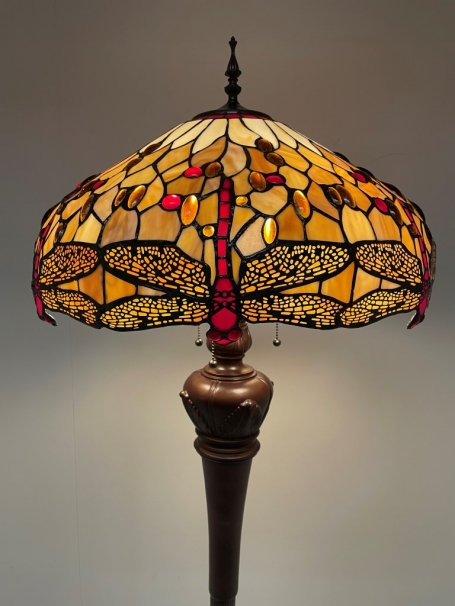 Tiffany vloerlamp Dragonfly Beige  50 Deluxe